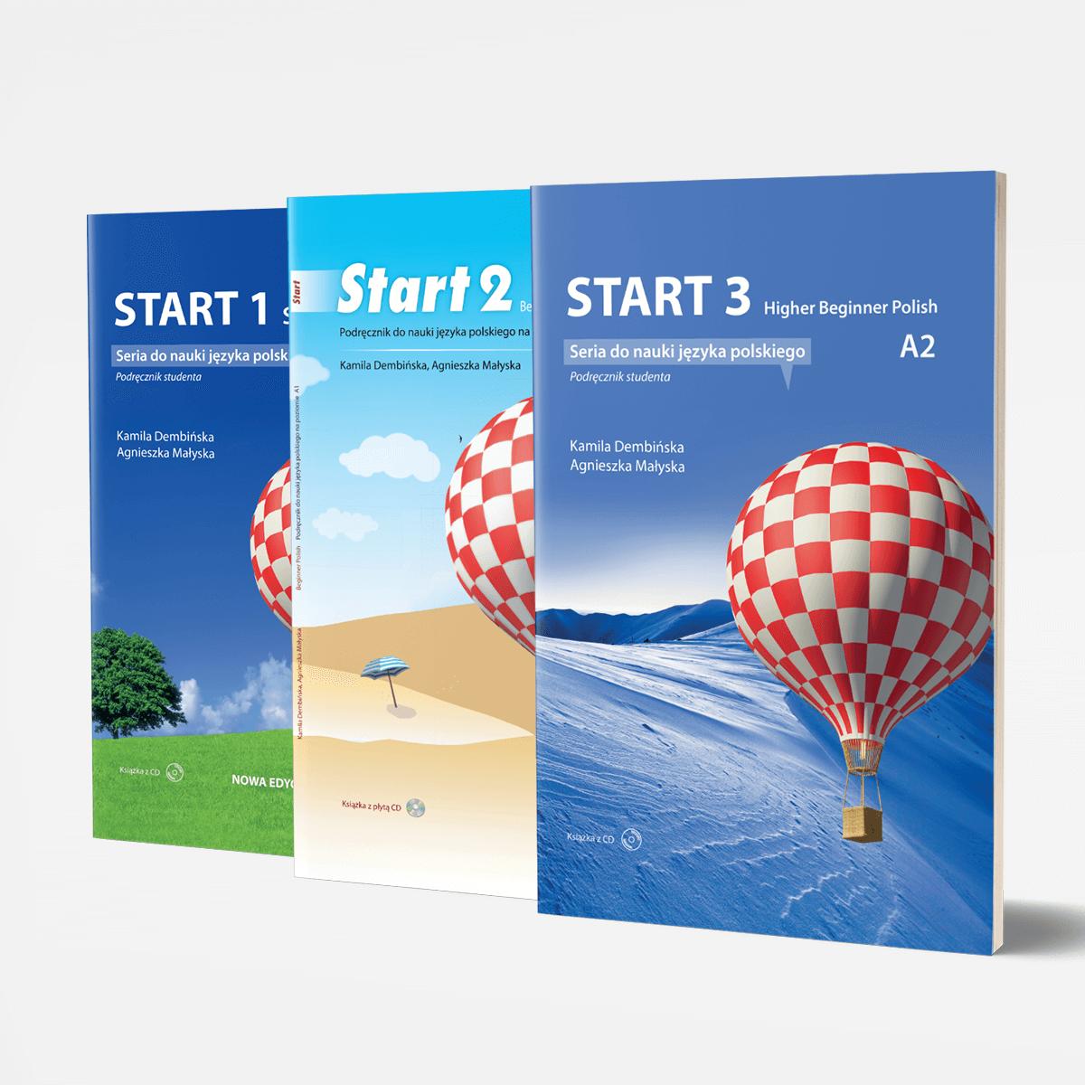 Zestaw podręczników START 1, 2 i 3