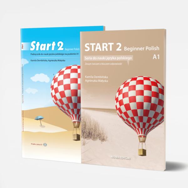 Zestaw Start 2 seria do nauki jezyka polskiego poziom A1