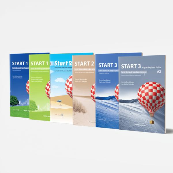 Zestaw Start 1 Start 2 Start 3 seria do nauki jezyka polskiego poziom A1