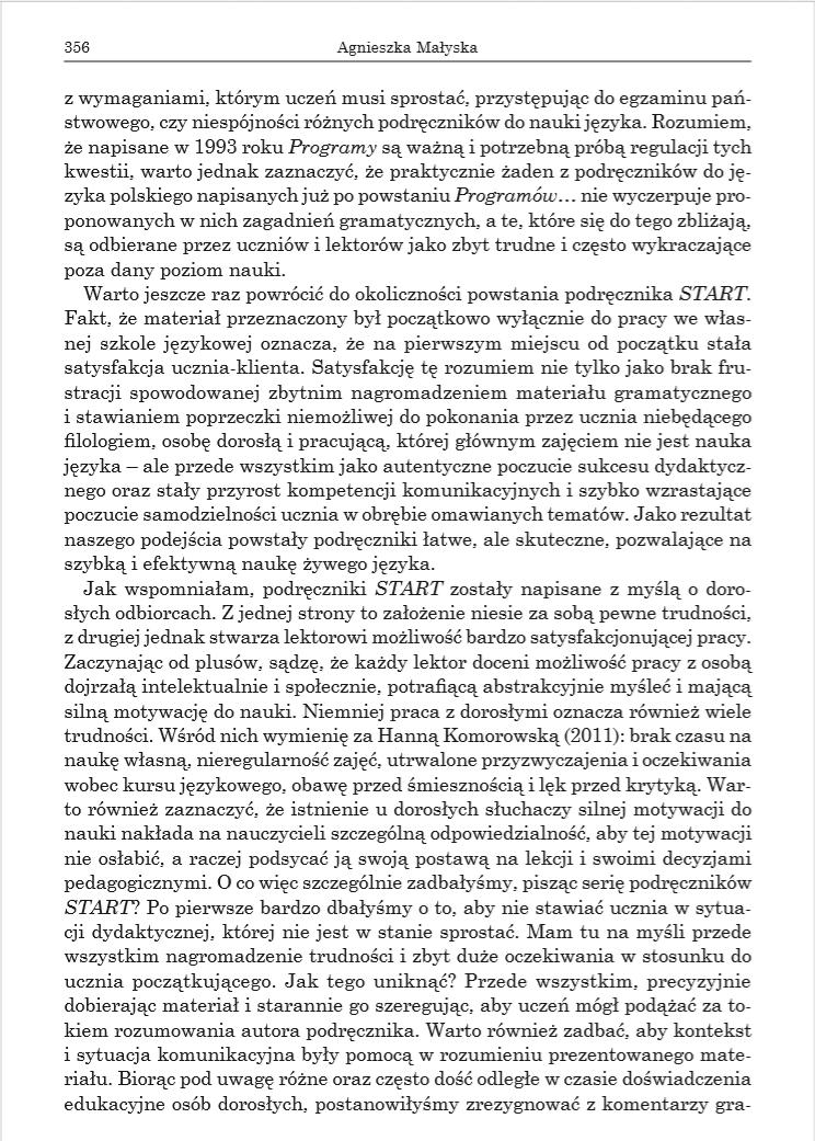 Przykladowa strona z Ksiazki Czy jezyk polski jest trudny